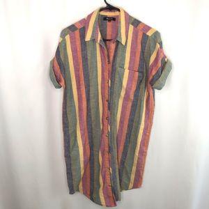 Madewell Striped Shirtdress - Size Small